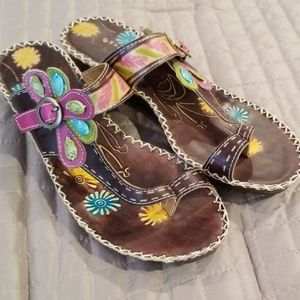 New Colorful Sandals.    NWOT